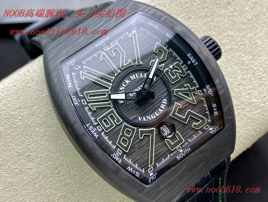 仿錶,精仿錶,複刻錶法蘭克穆勒 Franck Muller FM Vanguard Carbon V45碳纖維V2版本,N廠手錶