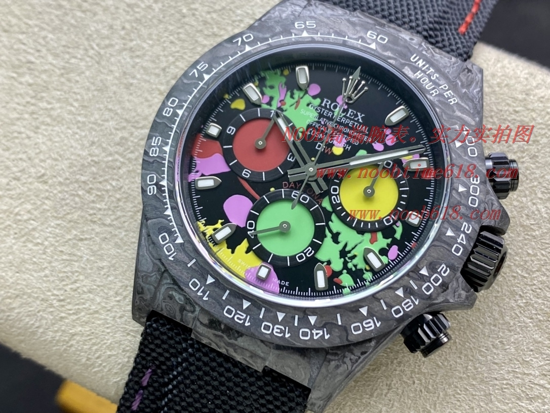 N廠手錶新品仿表勞力士碳纖維Diw迪通拿超級4130機芯厚度12.4MM宇宙計時系列,N廠手錶