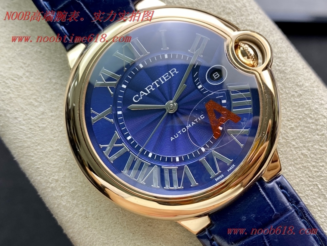 仿錶,精仿錶,複刻手錶客訂鱷魚皮帶 V6-Factory卡地亞42mm藍氣球,N廠手錶