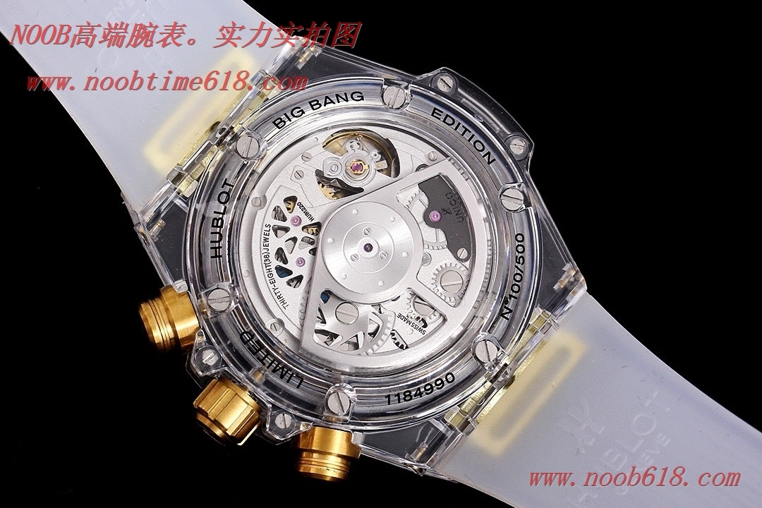 透明手錶恒寶HUBLOT宇舶BIG BANG系列411.JX.4802.RT全透明腕表,N廠手錶