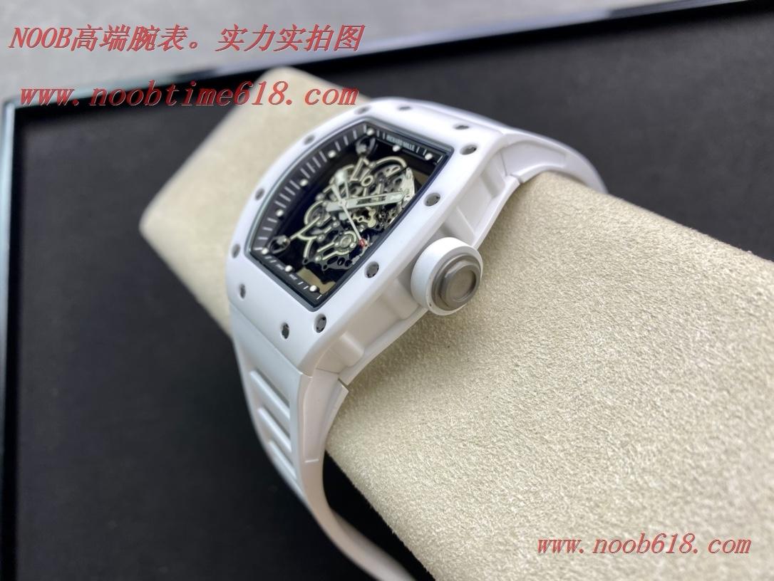 仿錶ZF Factory2021網紅爆款理查德米爾RM055白陶瓷系列複刻手錶