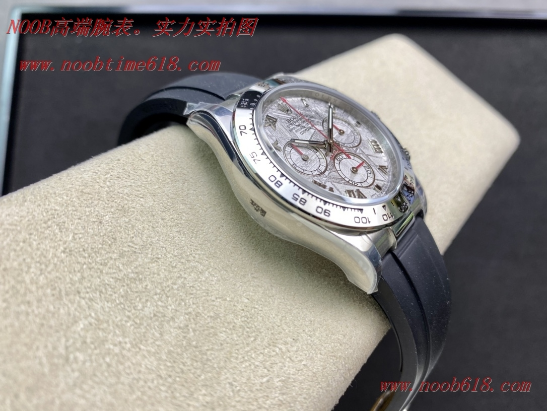 NOOB廠手錶新款白金迪通拿隕石面專屬Cal.4130自動上鏈機芯,N廠手錶