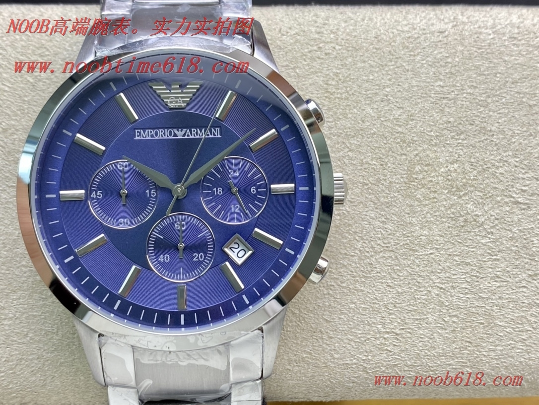 仿錶原單Armani阿瑪尼 型號:AR2448多功能三眼計時手錶,N廠手錶