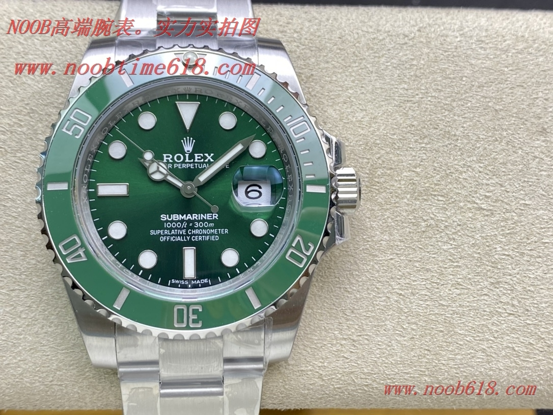 仿錶Green綠廠手錶116110勞力士40mm綠水鬼3135機芯,N廠手錶