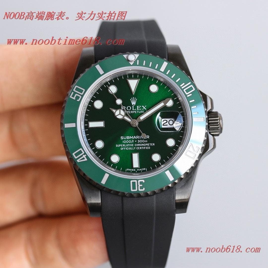 仿錶,精仿錶,複刻錶BLAKEN勞力士Rolex碳黑鋼皇膠帶款水鬼系列,N廠手錶