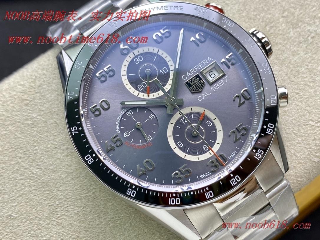 精仿手錶,仿錶V6 factory經典計時Tag Heuer泰格豪雅Calibre 1887 自動計時碼表系列CAR2013.BA0799腕表AISI316L,N廠手錶