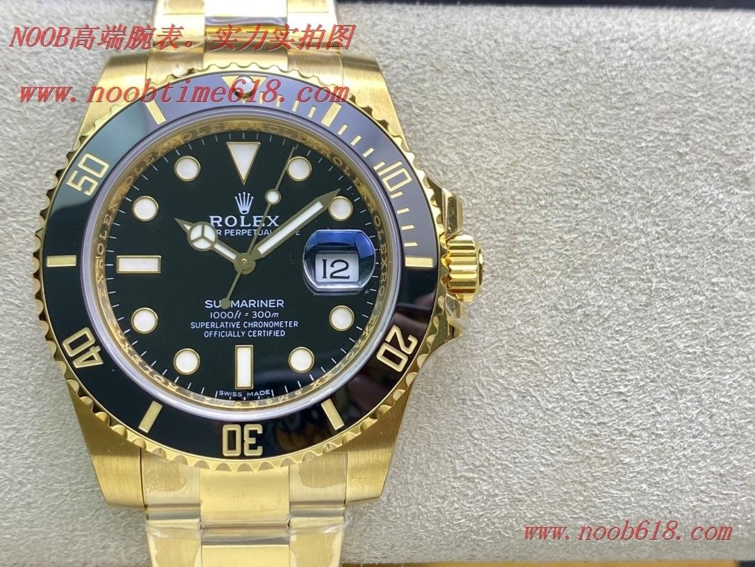 包金18K手錶.仿錶,精仿手錶VR Factory 18K金勞力士潛航者包金全金黑水鬼系列,N廠手錶
