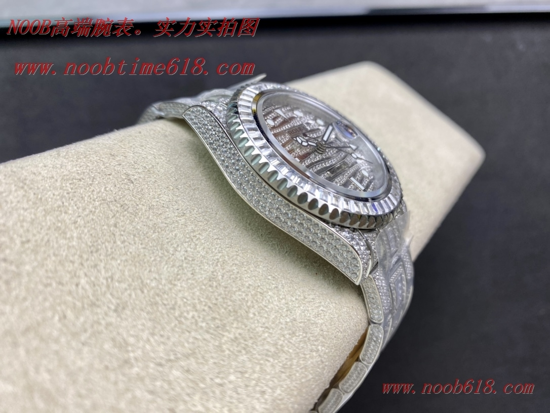 滿鑽手錶,仿錶,精仿手錶TW FACTORY完美還原史上最昂貴的勞力士滿天星腕表勞力士滿鑽格林尼治型II的ROLEX116769TBR-74779B,N廠手錶