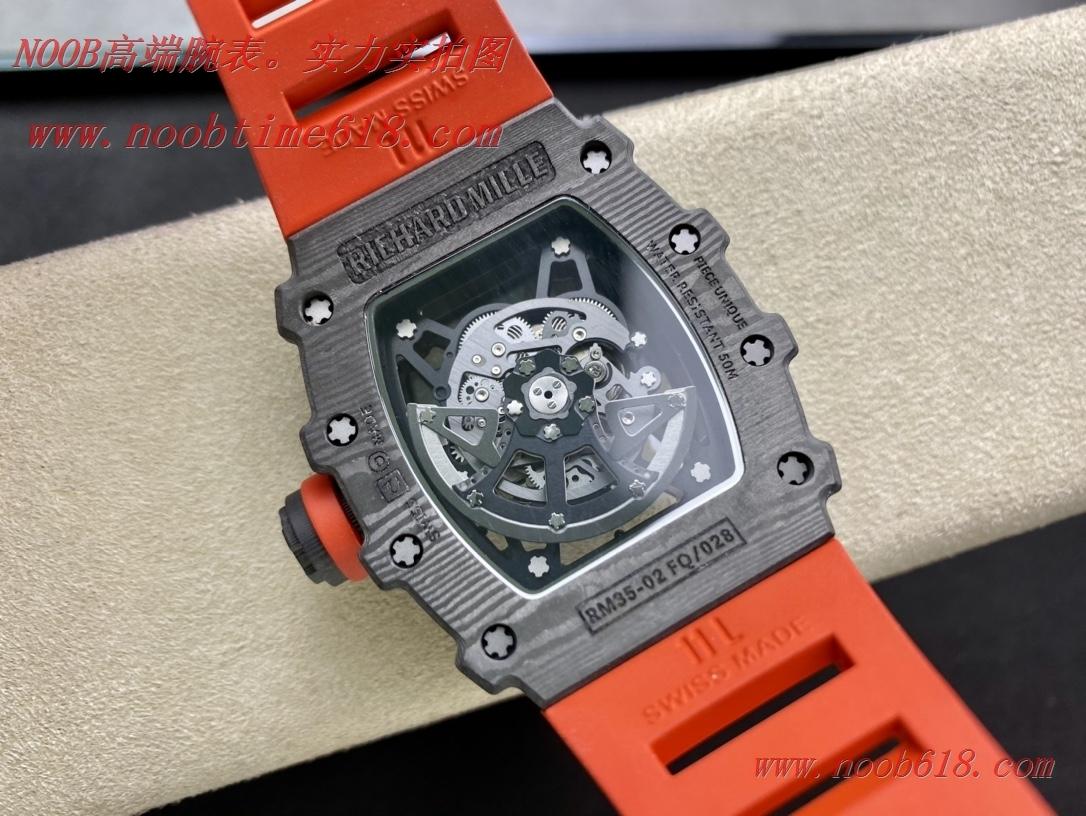 香港仿錶,臺灣手錶理查徳米爾原裝紋路RM35-02全碳纖維系列,N廠手錶