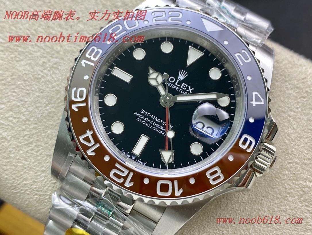 香港仿錶,N厂手錶REPLICA WATCH NOOB factory劳力士格林尼治可乐圈(可口可乐)红蓝陶瓷圈,N厂手表