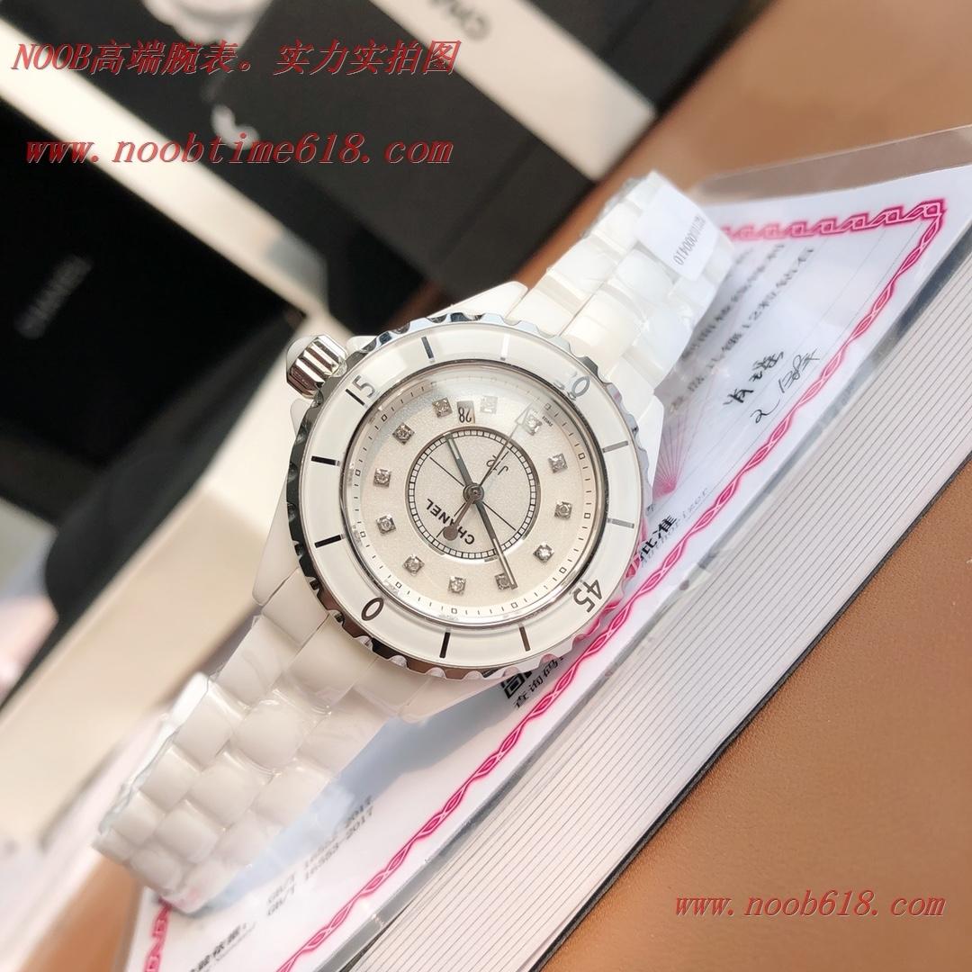 仿錶CHANEL香奈兒J12系列白陶瓷33MM石英款手錶