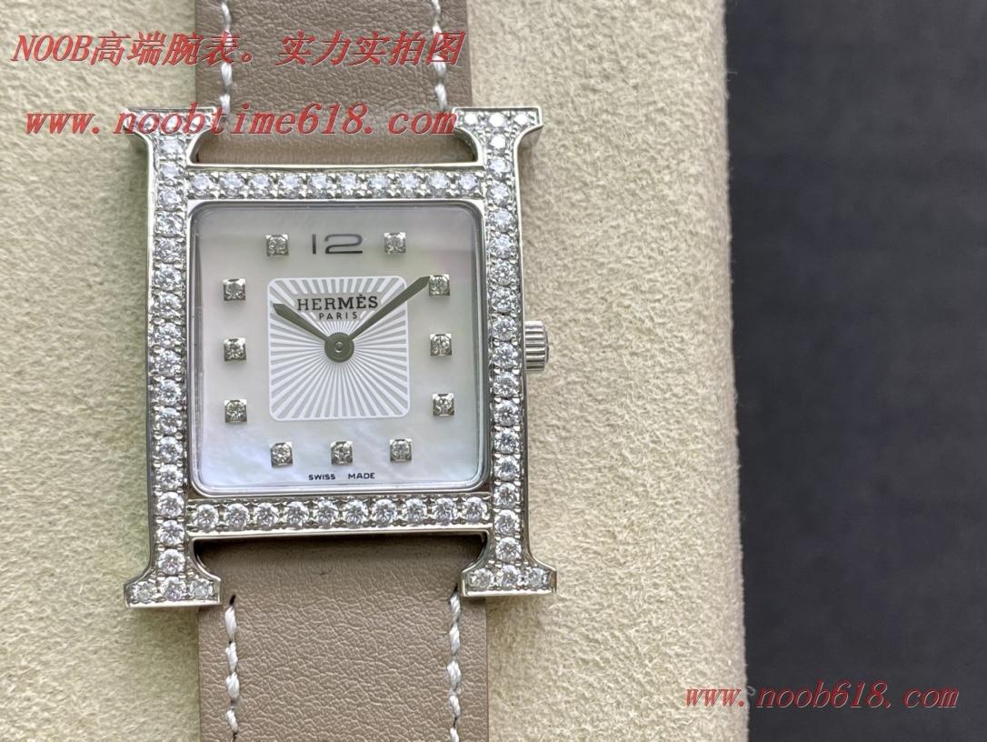 仿錶改裝專案:加莫桑鑽圈BV Factory 愛馬仕Heure H系列