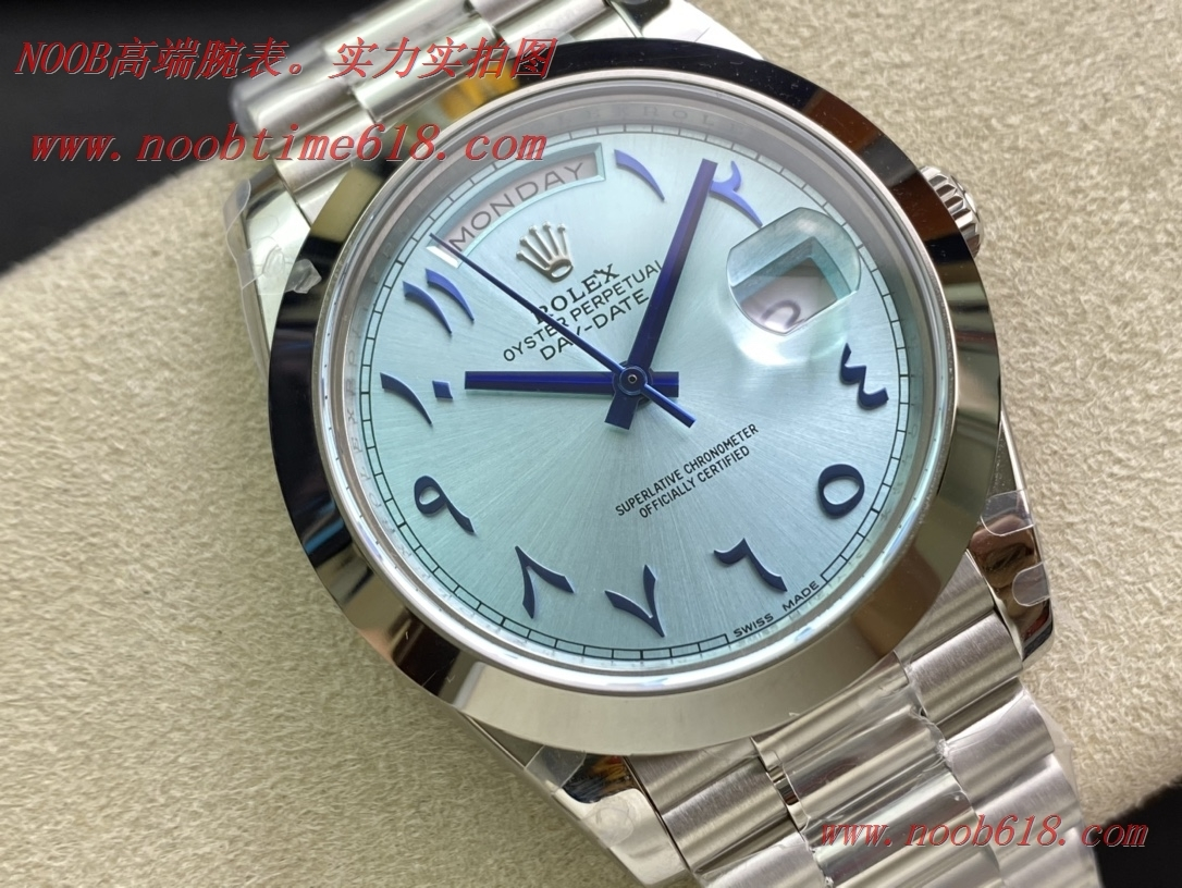 仿錶稀缺款REPLICA WATCH BP factory rolex勞力士中東版冰藍盤星期日志型複刻手錶