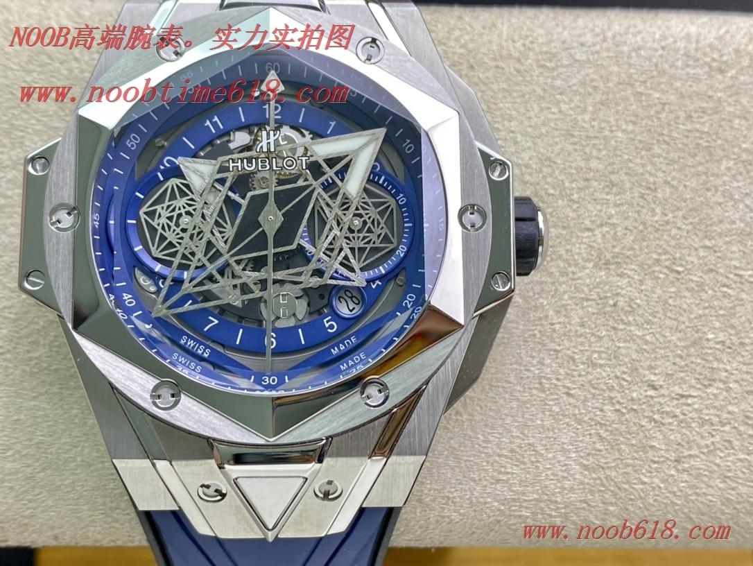 仿錶,Hublot恒寶宇舶計時機械款劍鋒全新Big Bang Sang Bleu II 刺青腕表