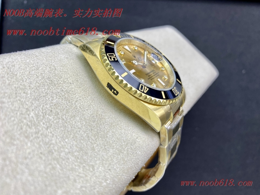 仿錶,稀缺款EW factory原版開模完美複刻Rolex勞力士sub 全金水鬼鑽石刻度3135機芯複刻錶