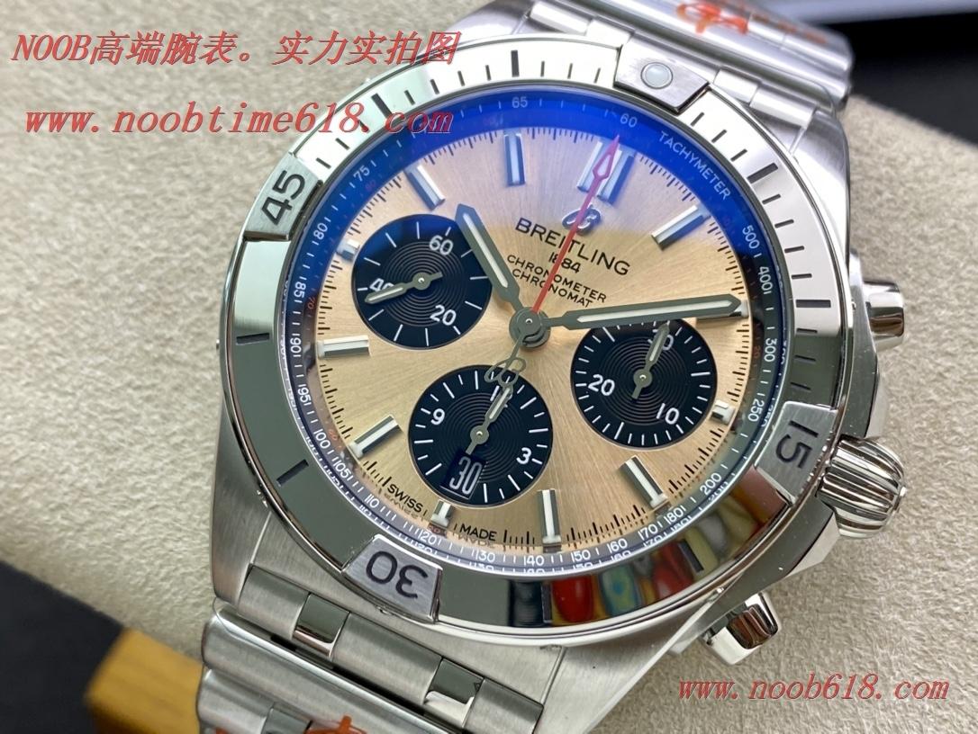 仿錶,鮭魚銅硬核鋼王GF廠手錶百年靈Chronomat複刻手錶