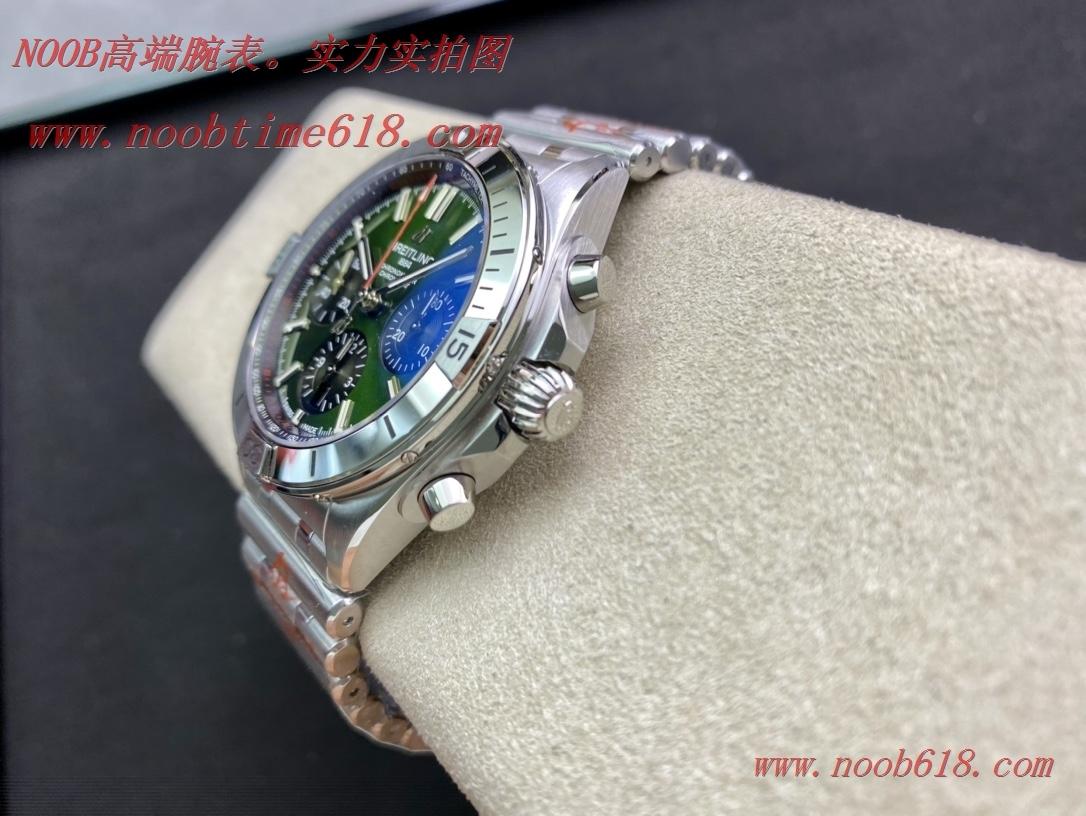 臺灣仿錶,赛道绿硬核鋼王GF廠手錶百年靈Chronomat複刻手錶