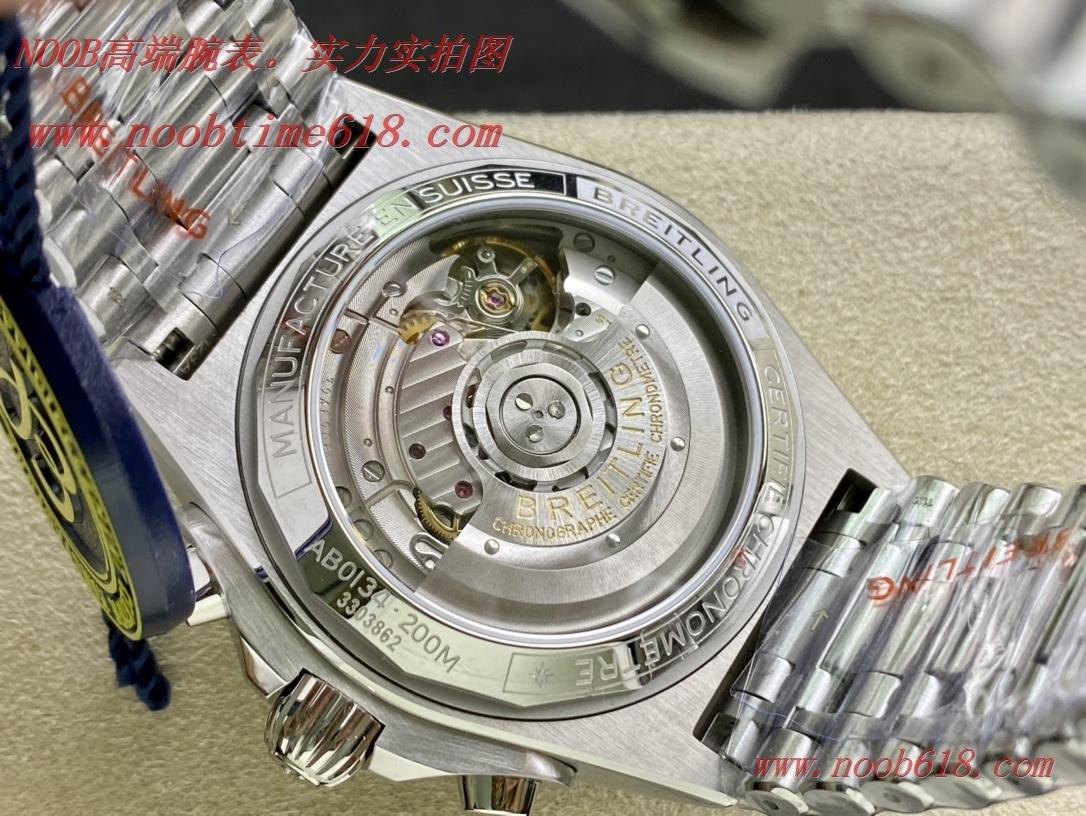 臺灣仿錶,熊貓白硬核鋼王GF廠手錶百年靈Chronomat複刻手錶