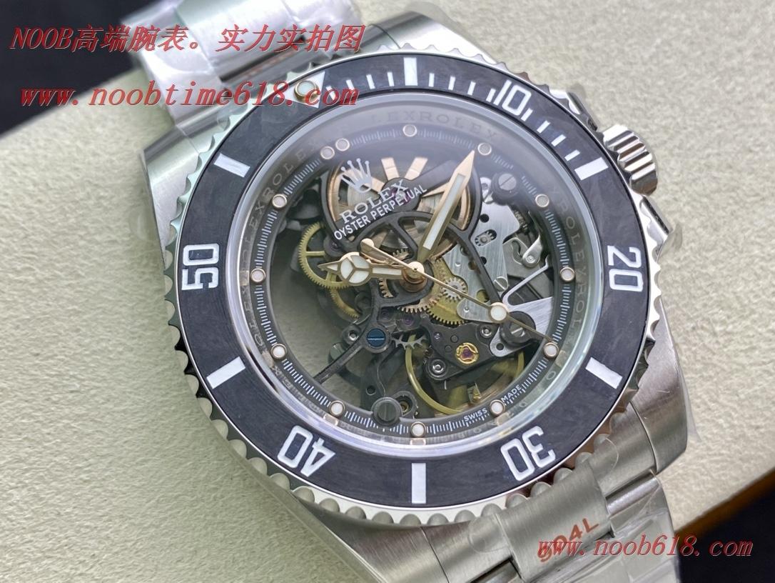 香港仿錶,EW Factory魔改勞力士Rolex全鏤空水鬼潛航者系列3130機芯複刻手錶