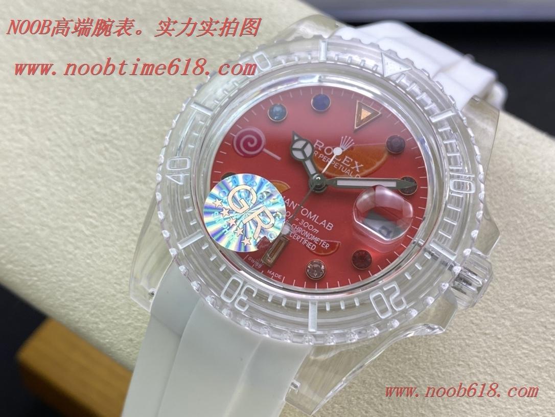 WACTCH AGENT ROLEX GR-Factory 透明手錶PHANTOMLAB&ROLEX聯名力作水晶系列腕表