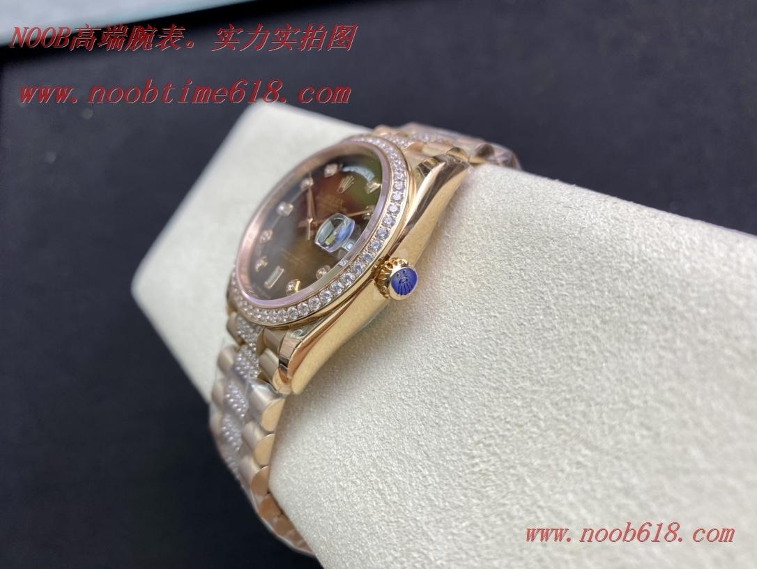 EW廠手錶勞力士星期日志型36mm鑲鑽帶款香港仿錶