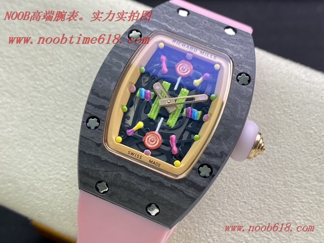理查德米勒女表RichardMille RM07糖果棉花糖碳纖維/黑白陶瓷表殼複刻手錶