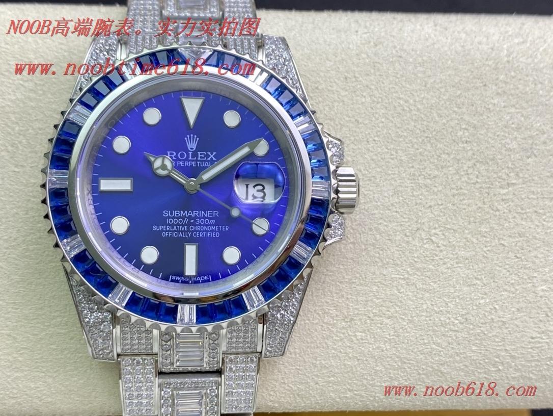鑽石手錶,滿鑽水鬼,勞力士滿天星腕表潛航者型密鑲鑽特別款複刻錶