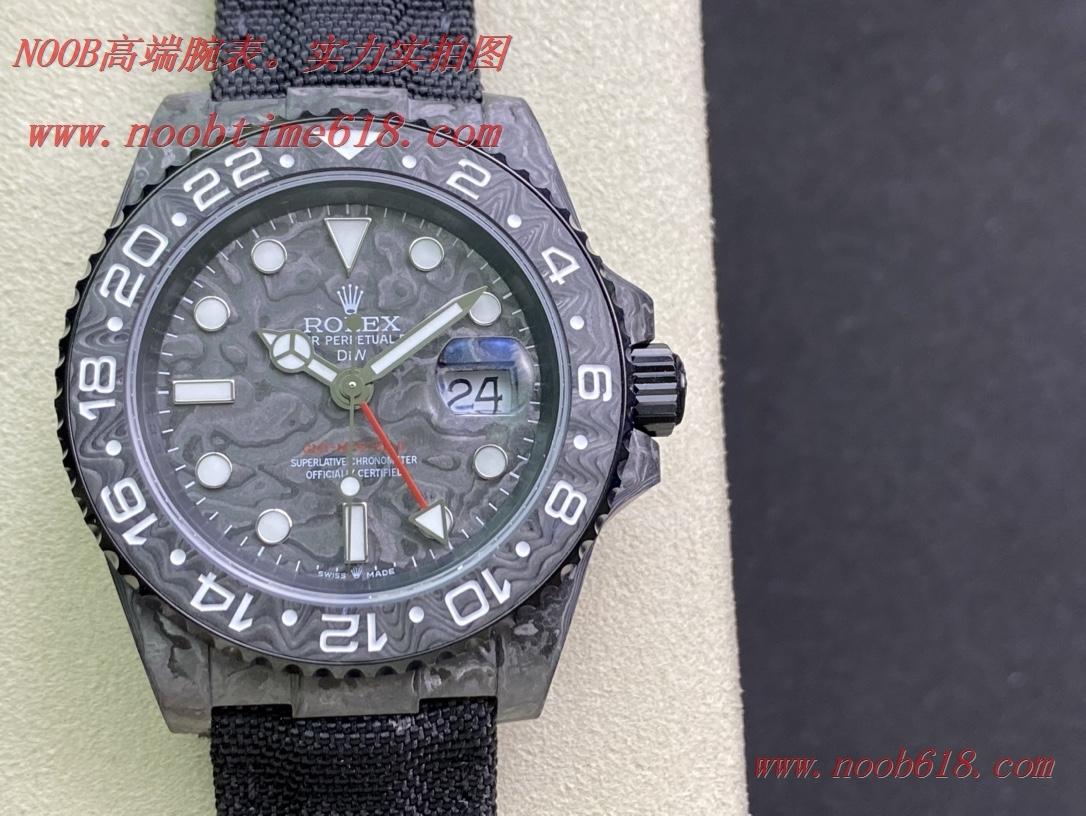 一比一手錶,JH匠心鑄造碳纖維勞力士格林尼治DIW定制版複刻錶