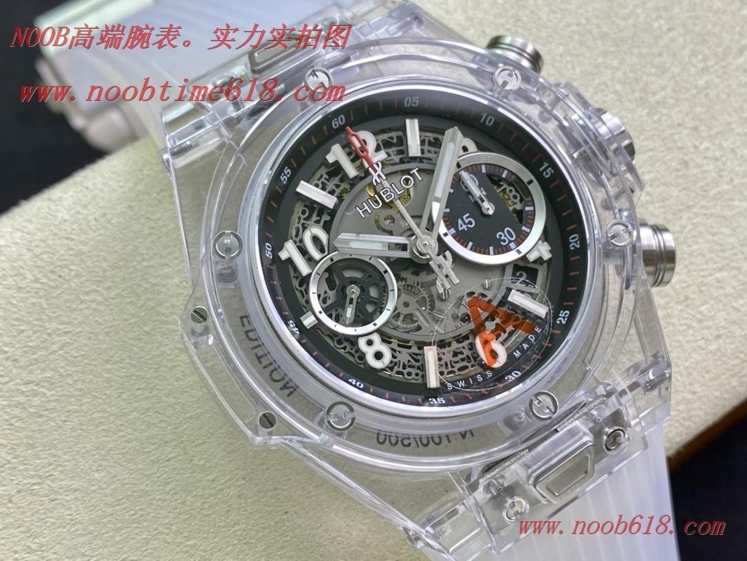"""透明手錶,HB廠手錶恒寶 BIG BANG系列411.JX.4802.RT""""全透明腕表""""V2版本精仿錶"""