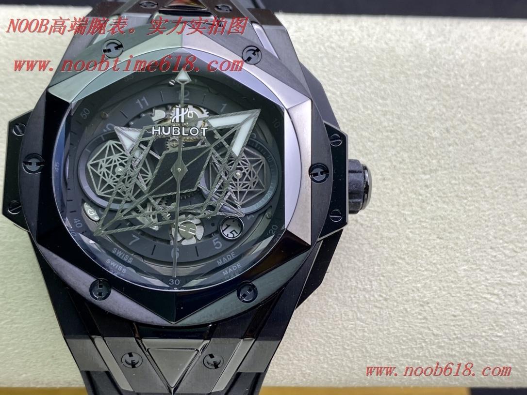 Hublot恒寶/宇舶計時機械款劍鋒全新Big Bang Sang Bleu II 刺青腕表