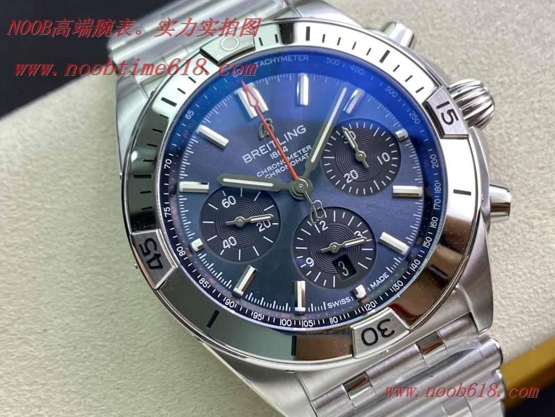 TF廠手錶新品百年靈Chronomat計時子彈輥珠帶機械計時系列精鋼雲層銀自動機械男表