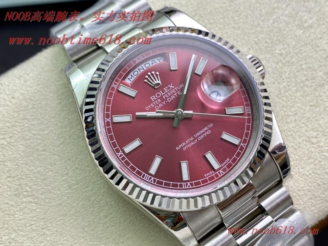 精仿錶,稀缺款BP廠手錶勞力士酒紅色星期日志型系列複刻手錶